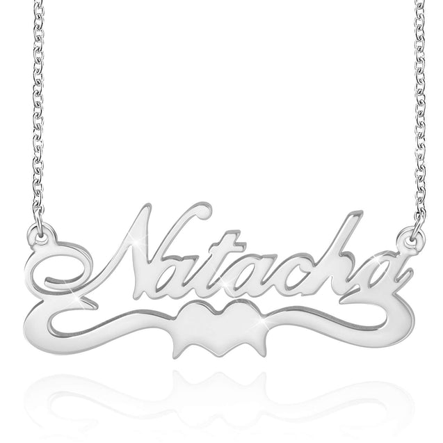 Custom Name Necklace With Heart Personalized Name Chain