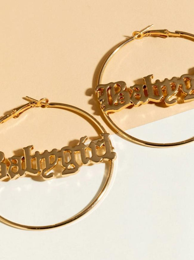 Personalized Name Hoop Earrings Gifts for Her
