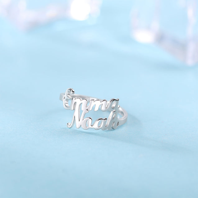 Personalized Name Ring Stackable Custom Rings Sterling Silver Mother Ring