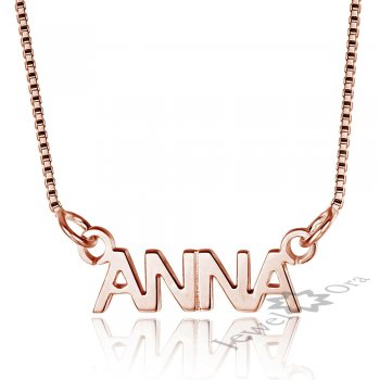 Custom Name Necklace Personalized Name Chain Sterling Silver