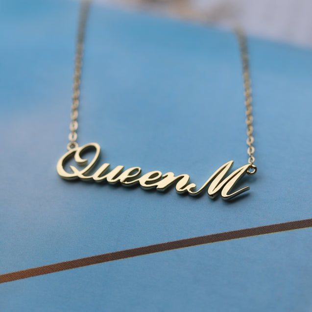 Classic Style Personalized Name Necklace Gift