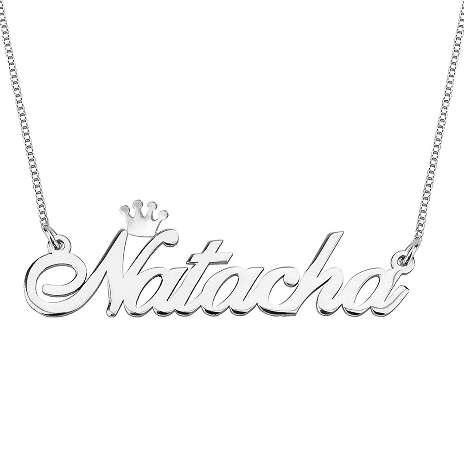 Name Necklace Personalized Jewelry 925 Sterling Silver Or Gold//Rose Plated 18k