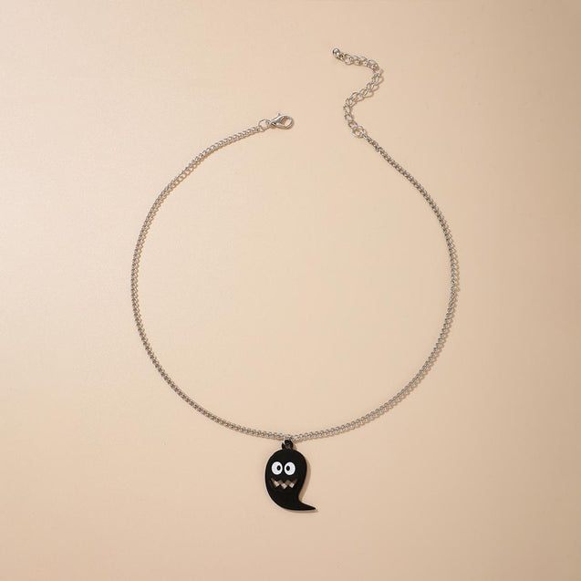 Cute Ghost Pendant Halloween Necklace
