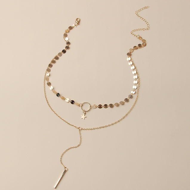 Layered Necklace Set Fashion Jewelry for Women
