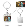 Square Shape Custom Photo Keychain Personalized Birthday Gift