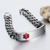 Medical Alert ID Bracelets for Women Men Kids chain bracelet