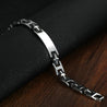 Link Chain Bracelet Men Stainless Steel Bracelet Black Biker Chain