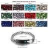 Personalized Mens Birthstone Chain Bracelet with 1 Stone Engravable Bracelets Black
