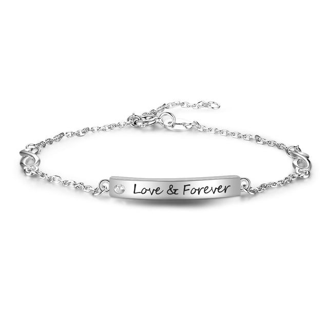 Infinity bracelet for girls friends women