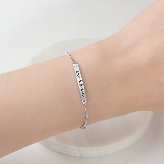 personalized Infinity bracelet ankle bracelet for girls friends women