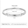 Engraved Personalized Bangle Bracelet Thin Women Inspirational Bracelet Friend Encouragement Gift