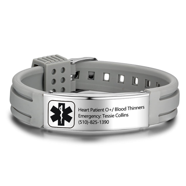 Medical ID Bracelet Medical Alert Doctor Alert Mediband Stainless Steel