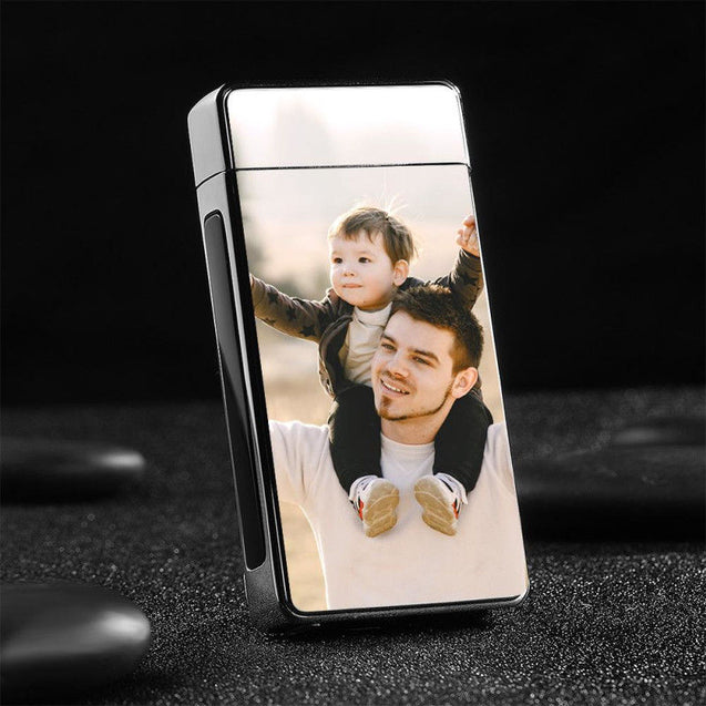Personalized Photo Lighter Custom Silver Gifts for Him