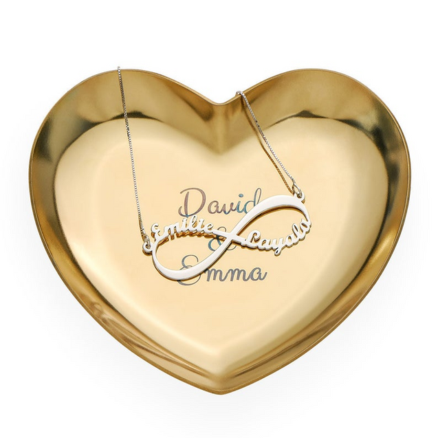 Personalized Engraved Dishes Storage Jewelry Dish Heart Shape
