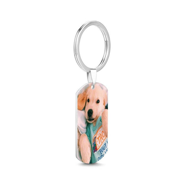 Custom Photo Keychain With Engraving Personalized Photo Gift for Father