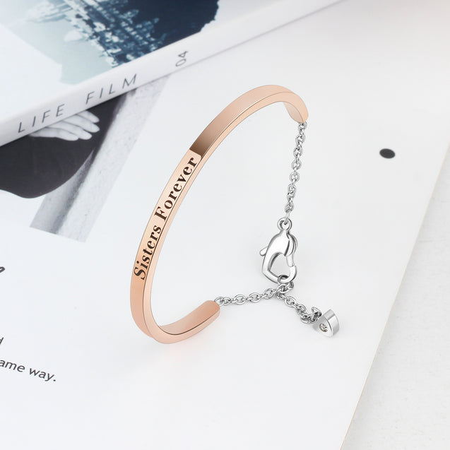 Personalized custom bracelets best gift rose gold plated