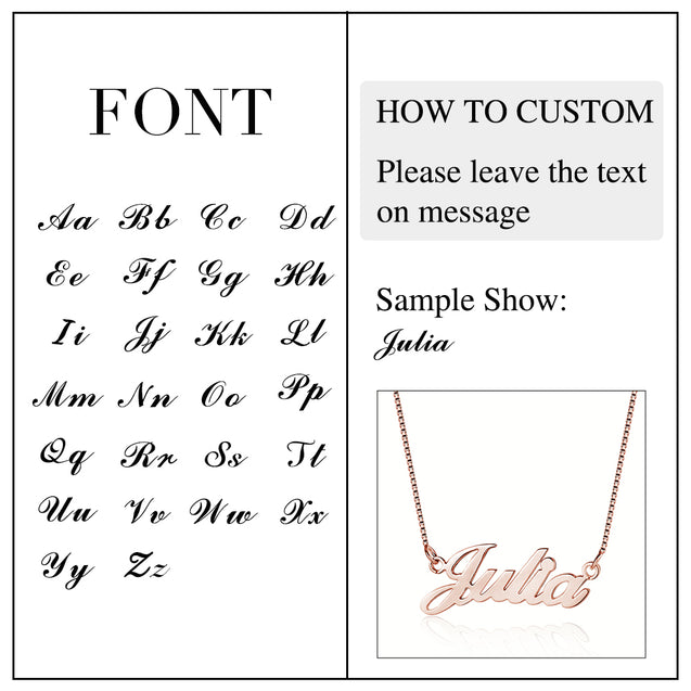 Classic Style Personalized Name Necklace Best gift