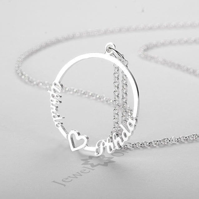 Personalized Engraved Name Necklace Gift for Daughter Mother silver