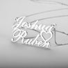 Custom Name Necklace with heart Nameplate Pendant