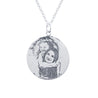 Engraved Photo Necklace Personalized Round Pet Pendant Necklace Animal Dog Tag Necklaces