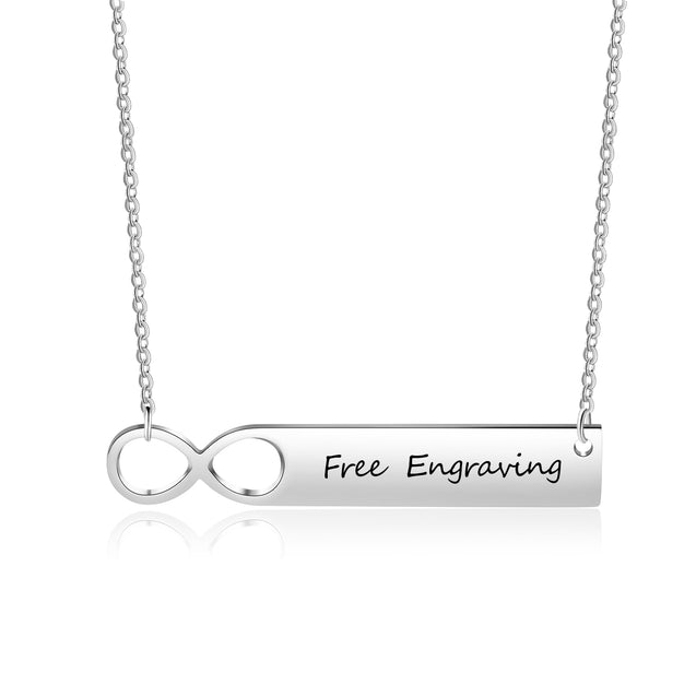 bar necklace infinity gift for girls