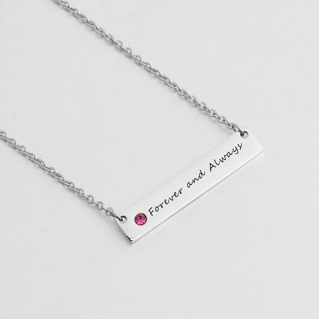 birthstone necklace for women name necklace