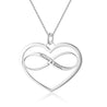 heart infinity pendant necklace personalized engravable