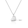 heart necklace stainless steel personalized engraved name