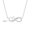 Infinity Pendant Necklace with Heart Personalized Customized Name Necklace For Women