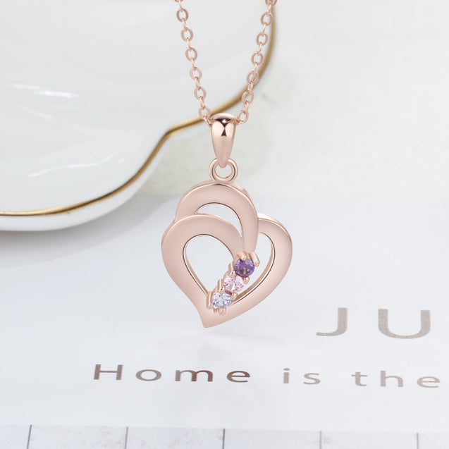 birthstone necklace for women pendant necklace gift for mom
