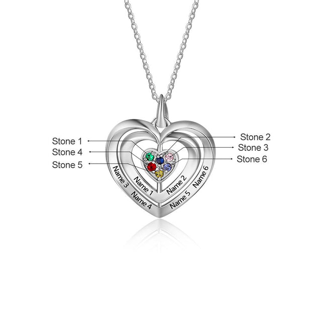birthstone necklace for women heart pendant necklace