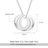 Interlocking Circle Pendant Necklace Women Silver pendant