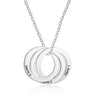 Interlocking Circle Pendant Necklace Women