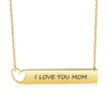 Engraved Name Neckalce Bar Necklace with Heart Gift for Her