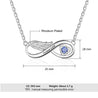 Wing Infinity Necklace with Birthstone Personalized Necklace Name Engraved Pendant