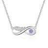 Wing Infinity Relationship Necklace Customized Birthstone
