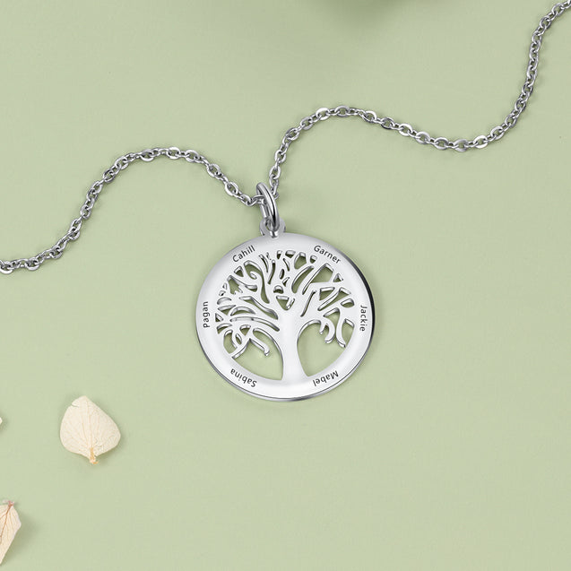 family tree necklace for mother grandmother