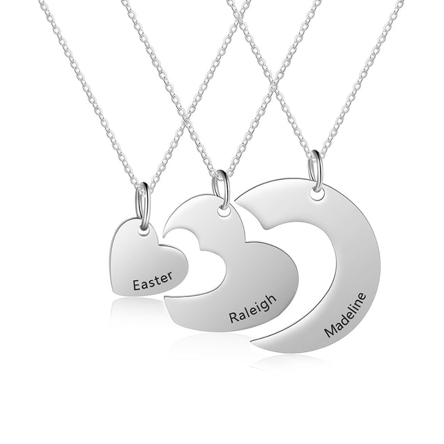 Heart Matching Pendant Necklace