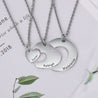 Family Heart Match Engraved Name Necklace