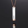 Personalized Vertical Bar Necklace With 2 Name Engraved Pendant Necklace Women Stainless Steal Necklace