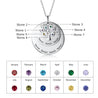 family tree birthstone necklace for women disc necklace