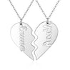 Best Friends Name Necklaces BFF Puzzle Heart Matching Necklace For Women Broken Heart Necklace Set