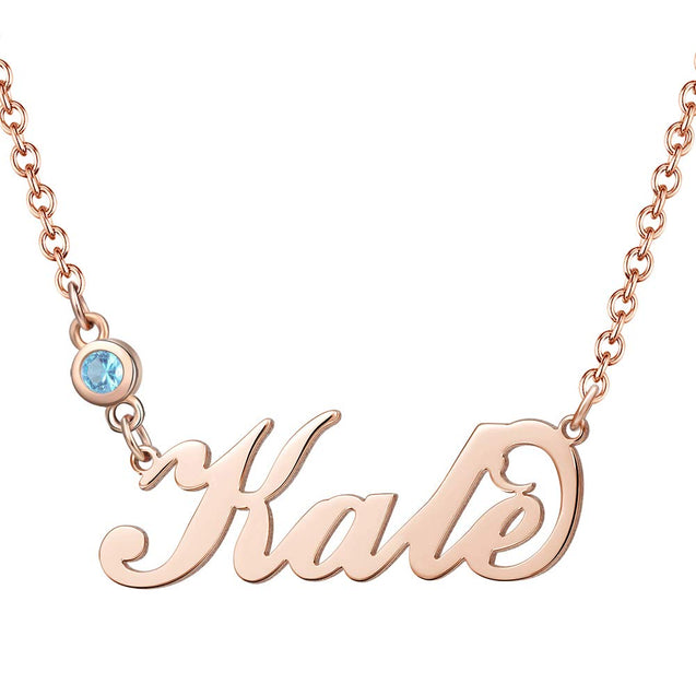 personalized custom name necklace with crown gold plated gift for her