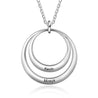 Engraved Circle Neckalce Personalized 2 Names Custom Necklace For Women Pendant