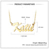 Custom Name Necklace Sterling Silver Personalized Name Chain Gold