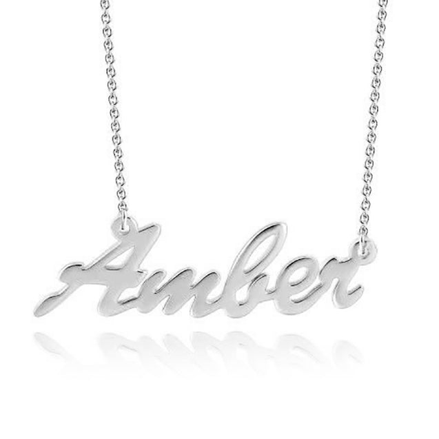 Custom Name Necklace Gold Name Chain Sterling Silver Name Necklace for Girls Great Gift For Women