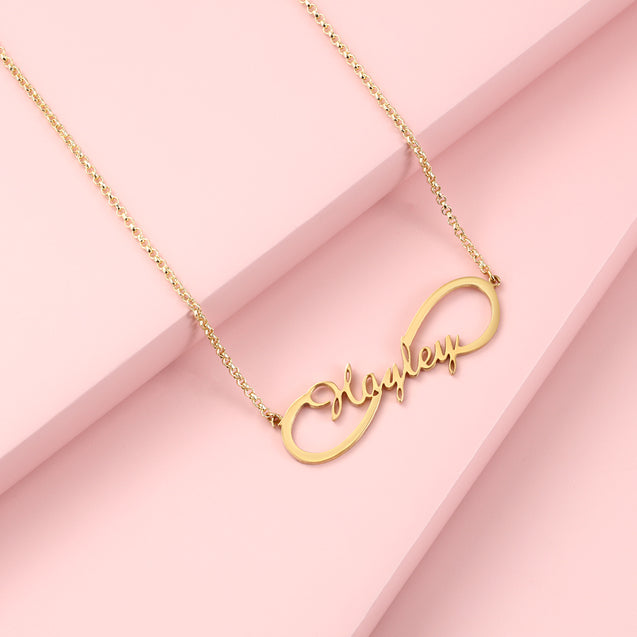 Infinity Name Necklaces Silver Personalized Custom Name Necklaces for Women Great Gift