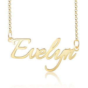 Custom Name Necklace Gold Personalized Name Chain Sterling Silver