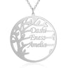 Family Tree Name Necklace Pendant Custom 3 Names Personalized  Gifts For Mom