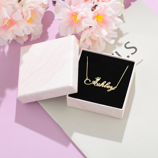 Personalized Crown Name Necklace Name Necklace